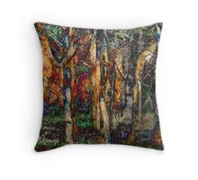 Late afternoon forest Throw Pillow