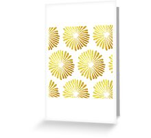 gold daisies pattern on White background  Greeting Card