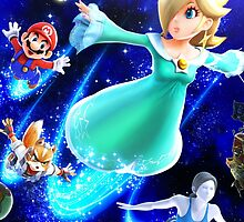 Super Smash Bros - Rosalina & Luma, Mario, Fox, Wii Fit Trainer by nekyobot