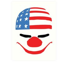 PayDay American Flag Mask Art Print