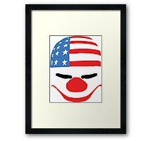 PayDay American Flag Mask Framed Print