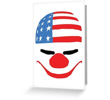 PayDay American Flag Mask Greeting Card