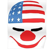 PayDay American Flag Mask Poster