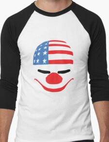 PayDay American Flag Mask Men's Baseball ¾ T-Shirt