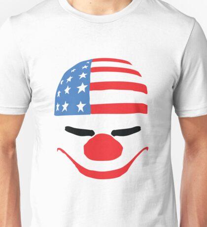 PayDay American Flag Mask Unisex T-Shirt