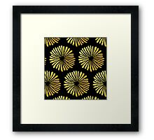 Gold daisies pattern Framed Print