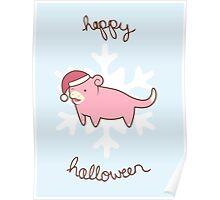 Slowpoke Christmas Poster