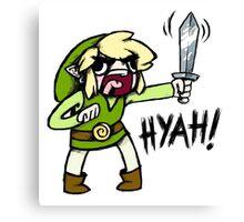 Toon Link- HYAH! Canvas Print