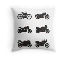 History of Triumph Throw Pillow