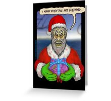 Evil Santa Greeting Card