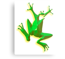 GREEN FROG, Jumping Jehoshaphat! Help! its the Green frog! Metal Print