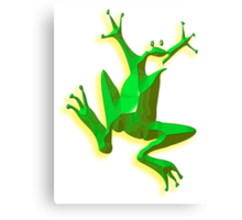 GREEN FROG, Jumping Jehoshaphat! Help! its the Green frog! Canvas Print