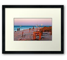 Monkey Mia Beach At Sunset  Framed Print