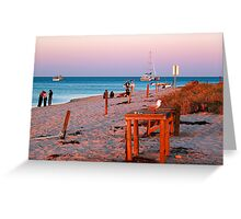 Monkey Mia Beach At Sunset  Greeting Card