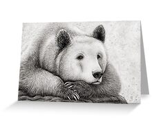 Brooding Bear Greeting Card