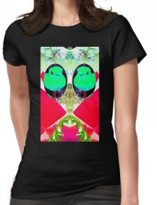 Perturbed Birds Womens Fitted T-Shirt