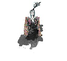Schiaparelli Couture Illustration  Photographic Print