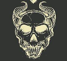 Skull & Heart by Cloakandbadger