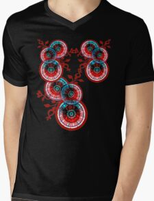 circularVines Mens V-Neck T-Shirt