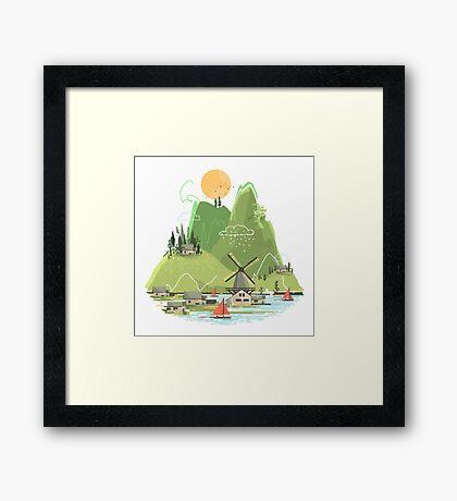 Glitchscape Framed Print