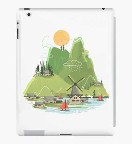 Glitchscape iPad Case/Skin