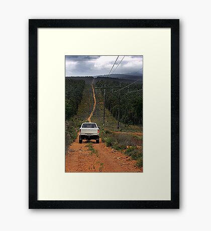 Driving The Powerlines Track Framed Print