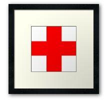 Medical Cross Framed Print