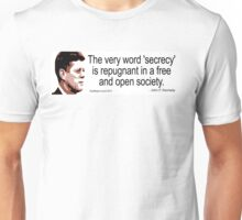 JFK on Secrecy Unisex T-Shirt