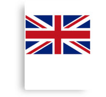 Flag of the United Kingdom, Union Jack, British flag, Pure & Simple Canvas Print