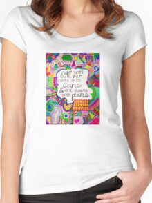 Can't Into Can, Dream Into Plan Women's Fitted Scoop T-Shirt