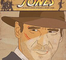Indiana Jones Comic Style Poster by Shaun Baker