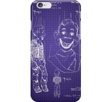 Howdy Doody Style Puppet Patent Image iPhone Case/Skin