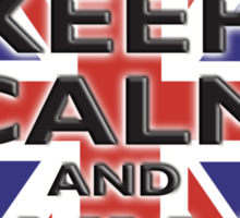 UNION JACK, FLAG, KEEP CALM & BUY A BEER, UK Sticker