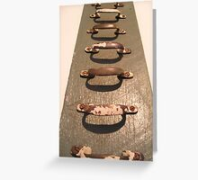 A ladder of handles Greeting Card