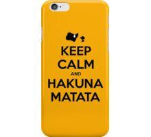 Keep Calm and Hakuna Matata iPhone Case/Skin