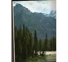 alberta mountain peaks Photographic Print