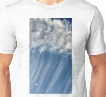 Moon hanging in Plane Plume Unisex T-Shirt