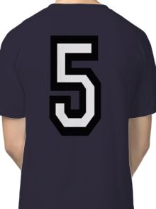 5, TEAM, SPORTS, NUMBER 5, FIFTH, FIVE, Competition,  Classic T-Shirt