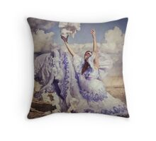 The harvesting of clouds Throw Pillow