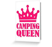 Camping Queen champion Greeting Card