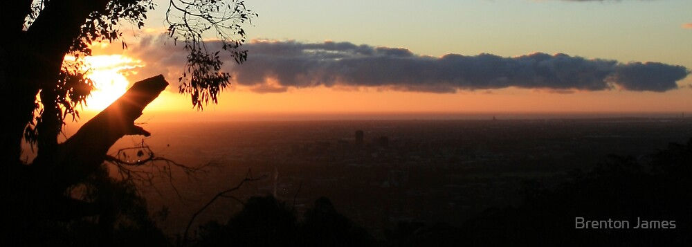 Sunset over Adelaide by Brenton James