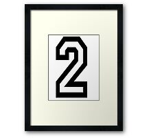 TEAM SPORTS, NUMBER 2, TWO, 2, SECOND, Competition Framed Print