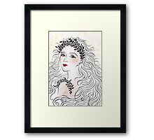 Silver and Ivory Framed Print