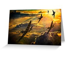 Spitfire Attack Greeting Card