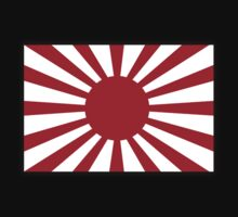 War flag, Imperial Japanese Army, on Black by TOM HILL - Designer