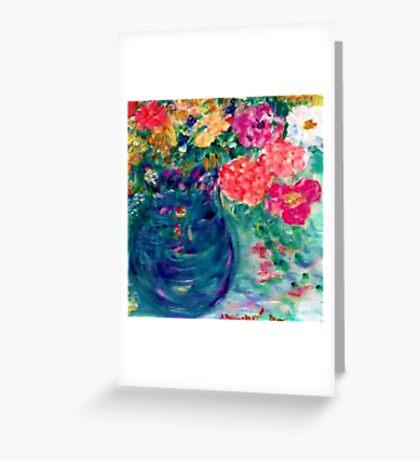 Romance Flowers Artist Designed Decor & Gifts Greeting Card