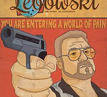 The Big Lebowski Comic Style Poster by Shaun Baker
