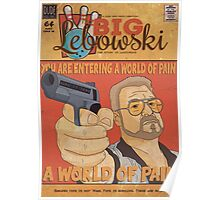 The Big Lebowski Comic Style Poster Poster