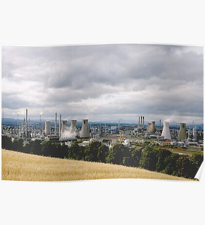 Grangemouth Oil Refinery Poster