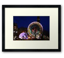 Christmas in Edinburgh Princes Street Framed Print